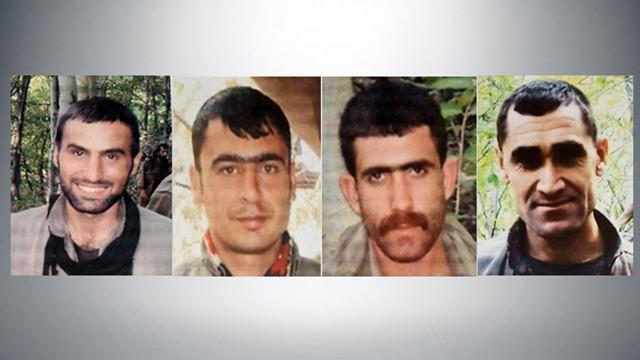 Başlarına 1 milyon 500 bin TL ödül konulan 4 terörist öldürüldü