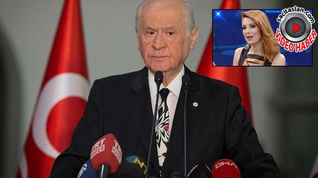 Devlet Bahçeli'den Nagehan Alçı'ya çok ağır sözler!