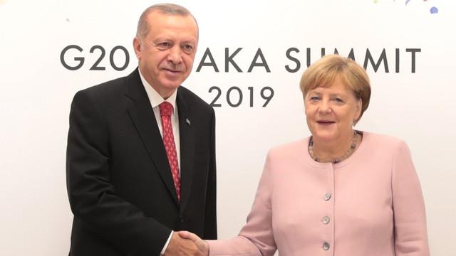 Cumhurbaşkanı Erdoğan Almanya Şansölyesi Merkel ile görüştü