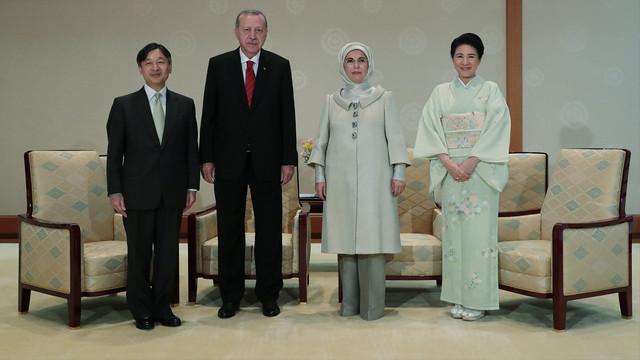 Cumhurbaşkanı Erdoğan, Japonya İmparatoru Naruhito ile görüştü