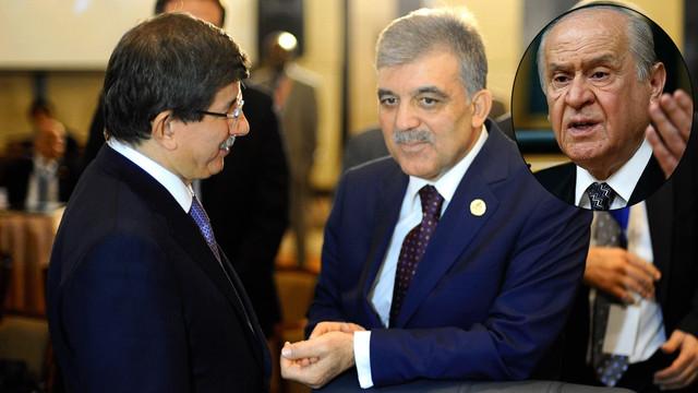 Bahçeli'den Davutoğlu ve Abdullah Gül'e çok sert sözler