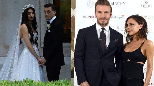 Amine - Mesut çifti Beckham çiftine meydan okuyor!