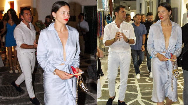 Adriana Lima'nın yeni aşkı Mikonos'ta para saçtı