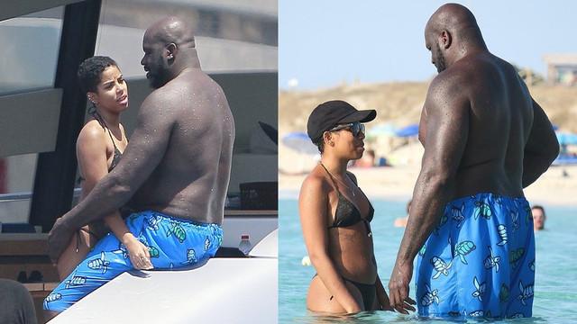 Shaquille O'Neal ve sevgilisi tatilde birbirine girdi!