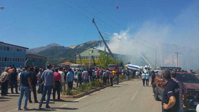 Konya'da av tüfeği fabrikasında büyük yangın çıktı!