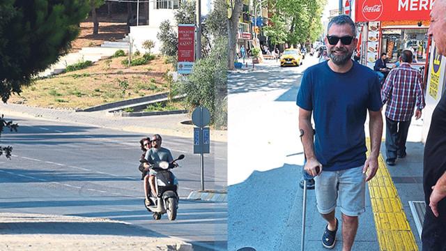 Murat Eken sakat ayağı ile motosiklet kullandı