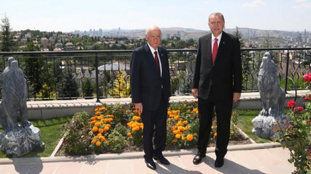 Cumhurbaşkanı Erdoğan'dan Bahçeli'ye ev ziyareti