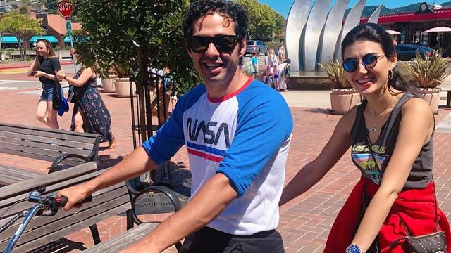 Fırat çifti Amerika'yı bisikletle gezdi