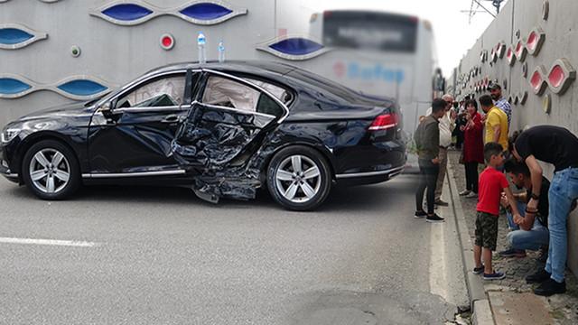 3 araç birbirine girdi, 44 yolcu ölümden döndü!