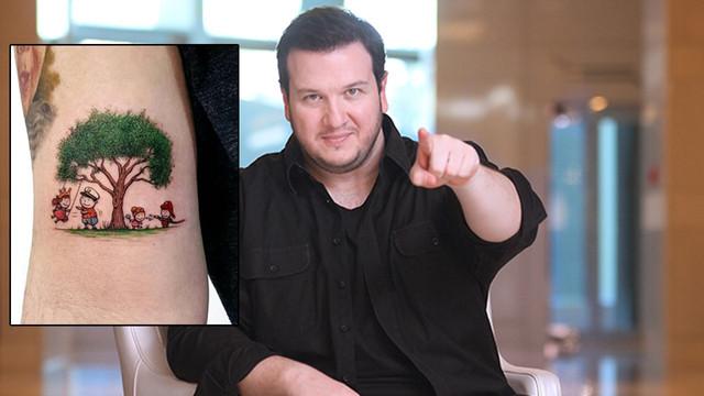 Şahan Gökbakar ailesini koluna dövme yaptırdı