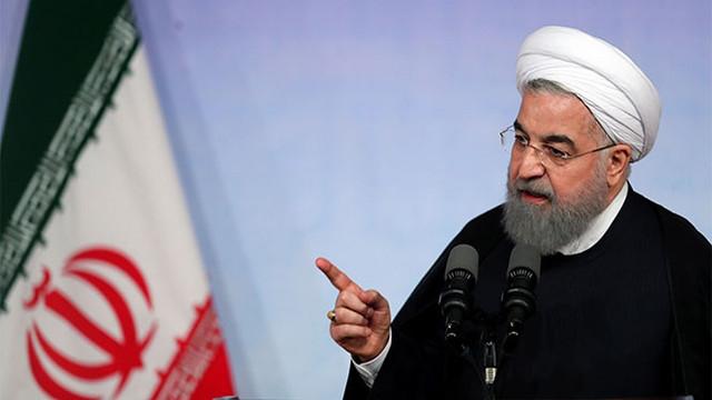 """Ruhani: """"Yaptırımlar kaldırılmadıkça müzakere yok"""""""