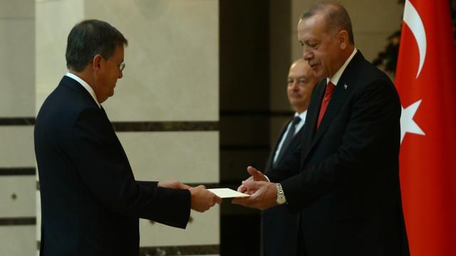 Cumhurbaşkanı Erdoğan, ABD Büyükelçisini kabul etti