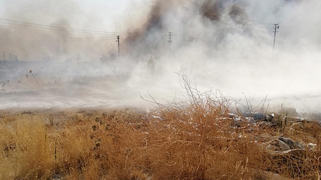 Şanlıurfa'da mülteci kampında yangın çıktı!