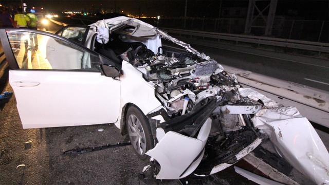 Trafik kazasında genç çift ağır yaralandı!