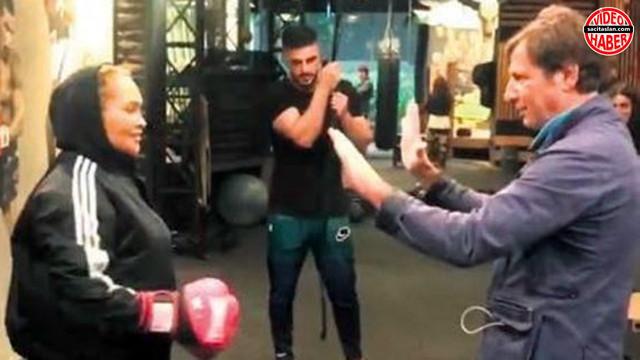 Hülya Avşar boks eldivenlerini giydi!