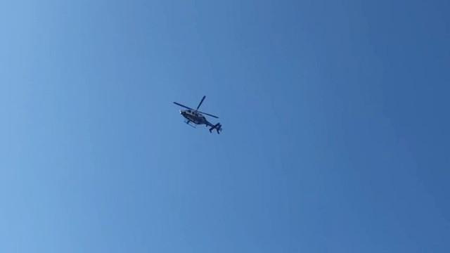 Avcılar'da polis helikopteri hasar incelemesi yaptı