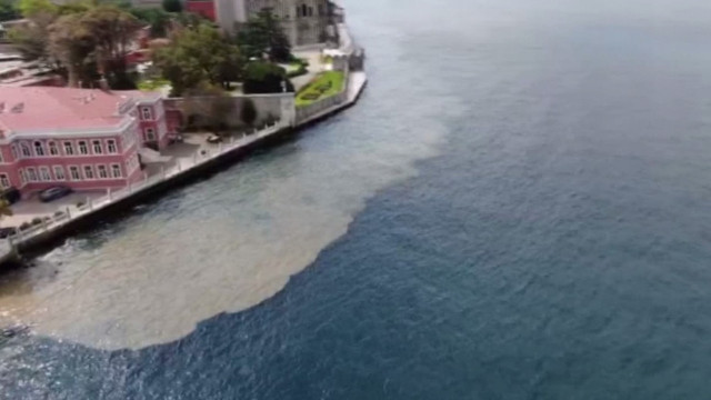 İstanbul Boğazı'nda dikkat çeken görüntü