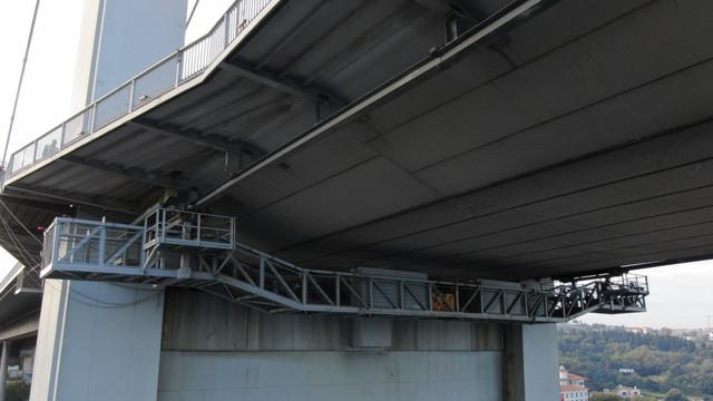 15 Temmuz Şehitler Köprüsü'nde bakım platformu görüntülendi