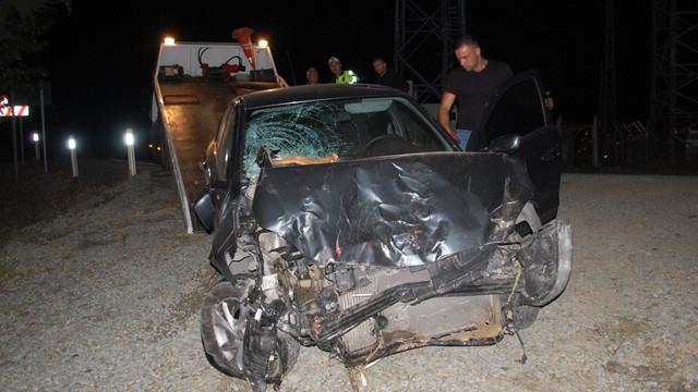 Polisten kaçtı, kaza yapınca yakalandı