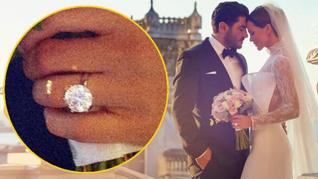 Ebru Şallı'nın düğününden çok yüzüğü konuşuldu!