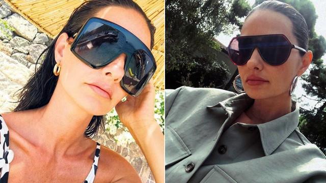 Yasemin Özilhan güneş gözlükleriyle havasını atıyor