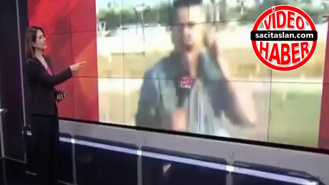 CNN Türk muhabirini yerinde zıplatan patlama