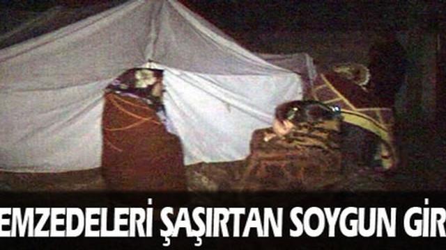 Depremzede çadırında spreyli soygun!
