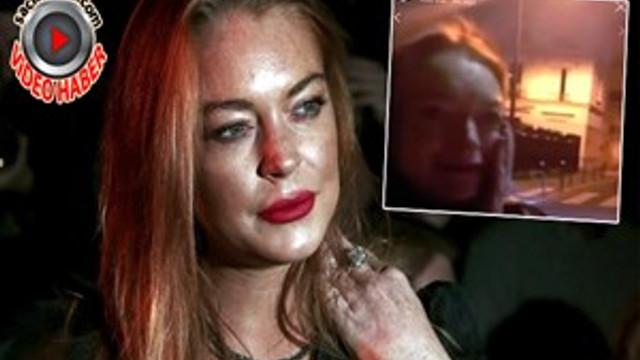 Lindsay Lohan yumruğu yedi!