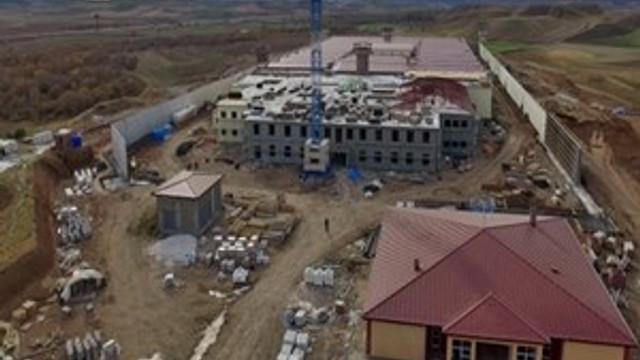 Yapımı devam eden cezaevi havadan görüntülendi
