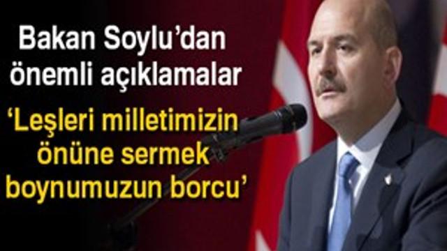 İçişleri Bakanı Süleyman Soylu'dan flaş açıklamalar