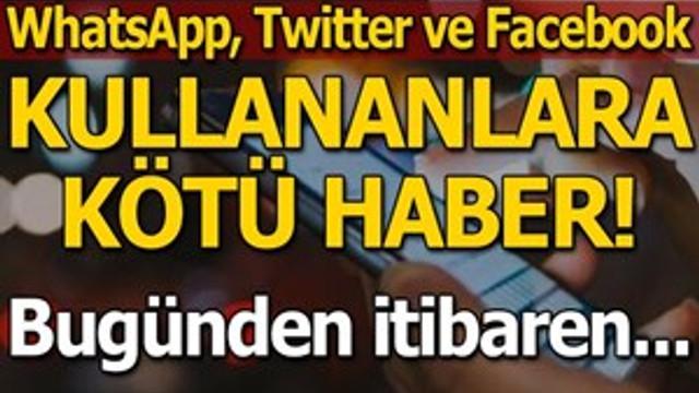 WhatsApp, Twitter ve Facebook verileri kaydedilecek mi?