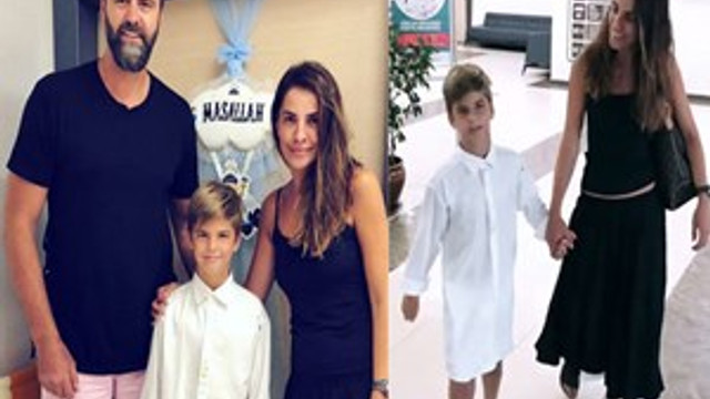 Mehmet Okur - Yeliz Okur çiftinin oğulları Yiğit sünnet oldu