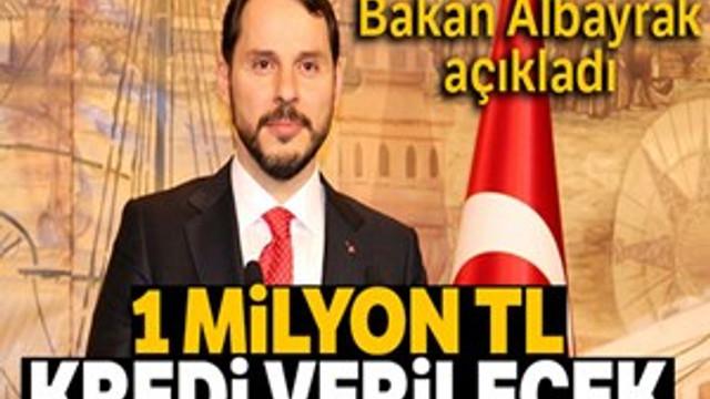 """Bakan Albayrak açıkladı: """"1 milyon TL kredi verilecek"""""""