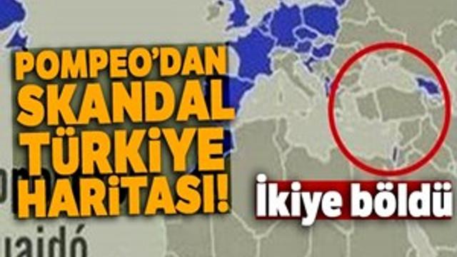 Mike Pompeo'dan skandal Türkiye haritası!