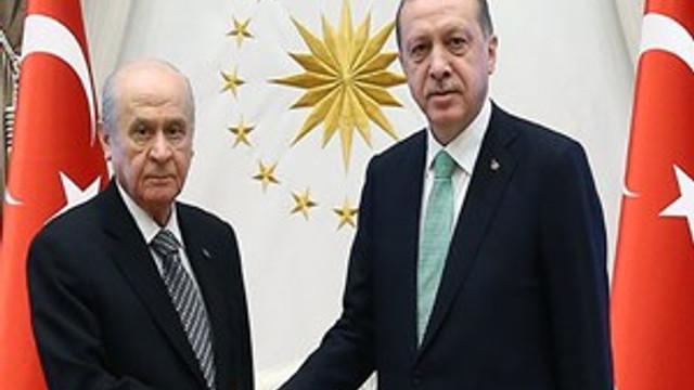 Cumhurbaşkanı Erdoğan, Devlet Bahçeli görüşmesi sona erdi