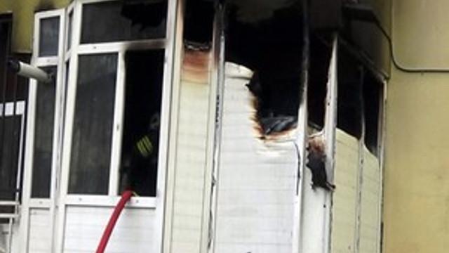 Feci yangında ev kullanılamaz hale geldi!