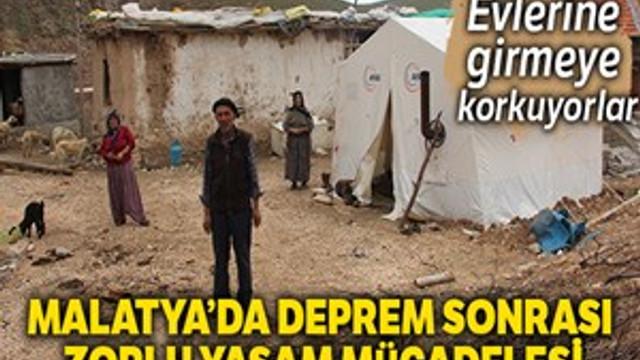 Malatya'da deprem sonrası zor günler