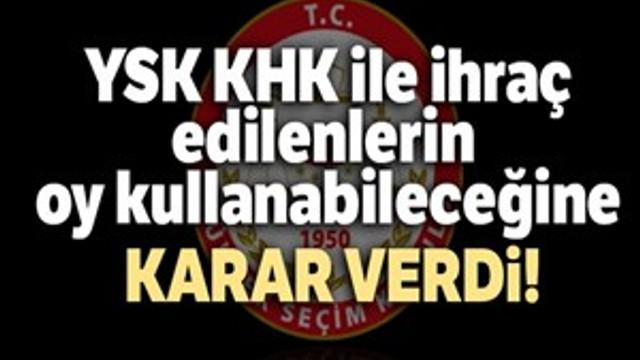 YSK'dan flaş İstanbul kararı