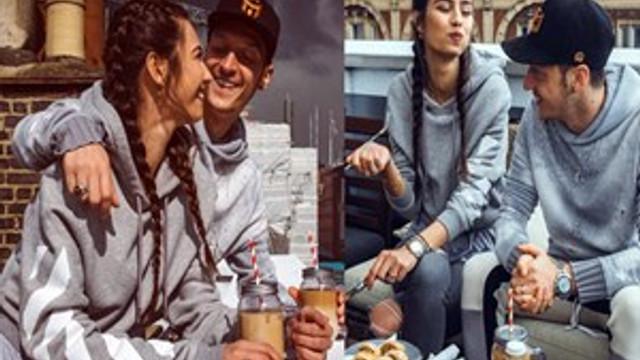Mesut ile Amine'nin Londra'da romantik yemeği