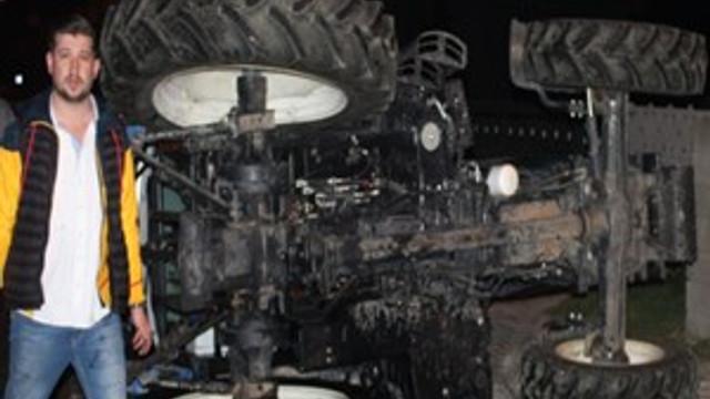 Tekirdağ'da kamyonet traktöre çarptı!