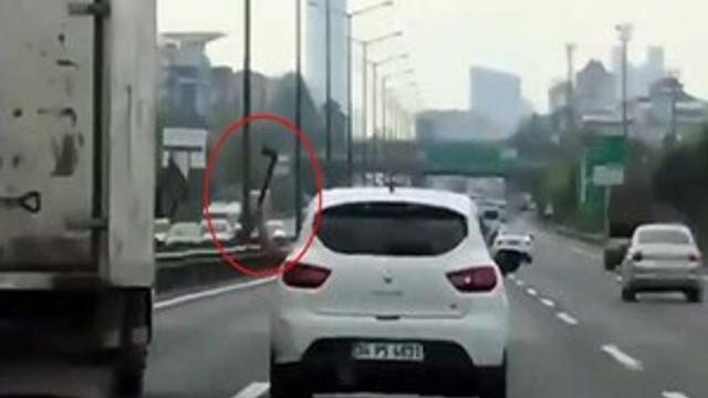 Trafikteki baltalı saldırgan tutuklandı