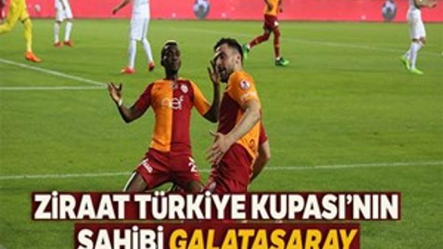 Ziraat Türkiye Kupası'nın sahibi Galatasaray