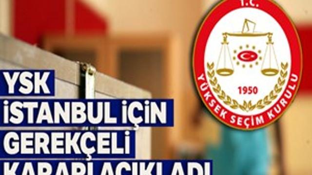 Yüksek Seçim Kurulu Gerekçeli Kararı yayınlandı