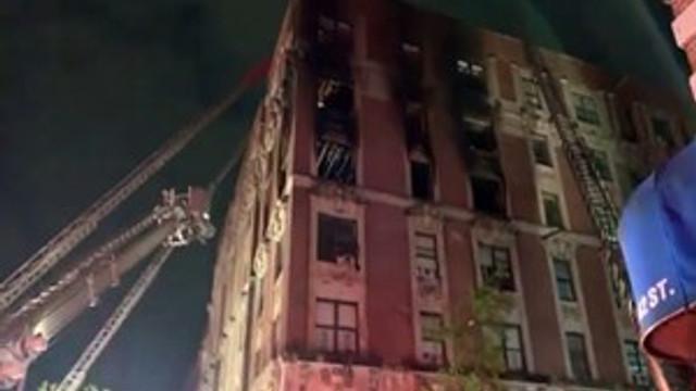 New York'ta dehşet veren yangın!