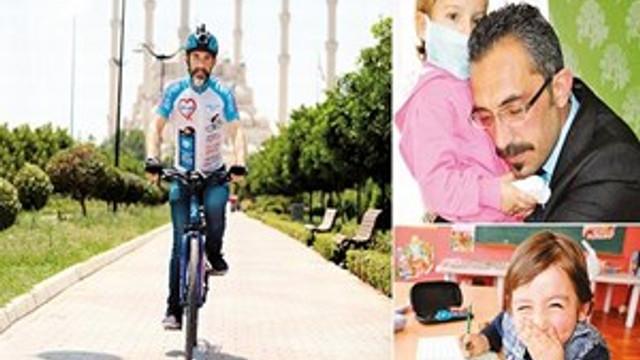 'Ali Utku'lar ölmesin diye bisikletle 'kalp' turuna çıktı