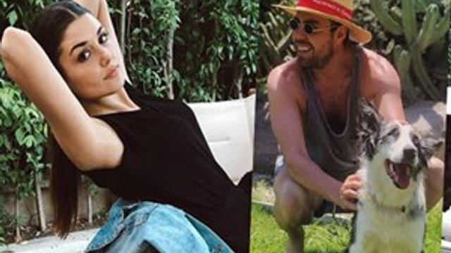 Hande Erçel ile Murat Dalkılıç Çeşme'de tatil yapıyor