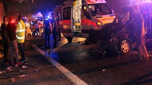 Beşiktaş'ta feci trafik kazası!
