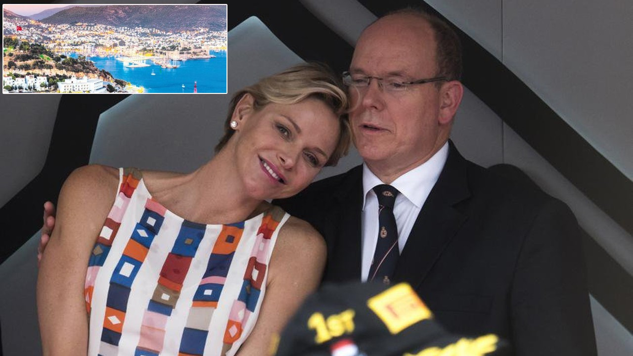 Monaco Prensi II. Albert ailesiyle Bodrum'a geldi