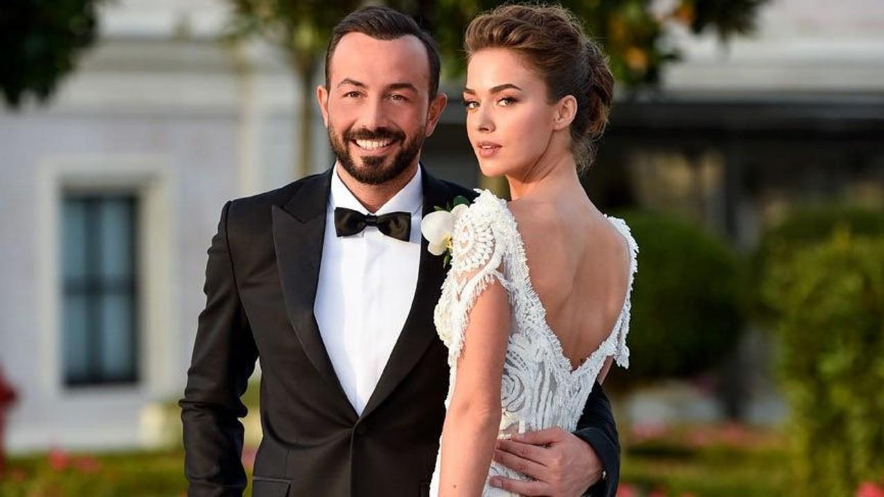 Hakan Baş'tan güzel eşi Bensu Soral'a romantik kutlama
