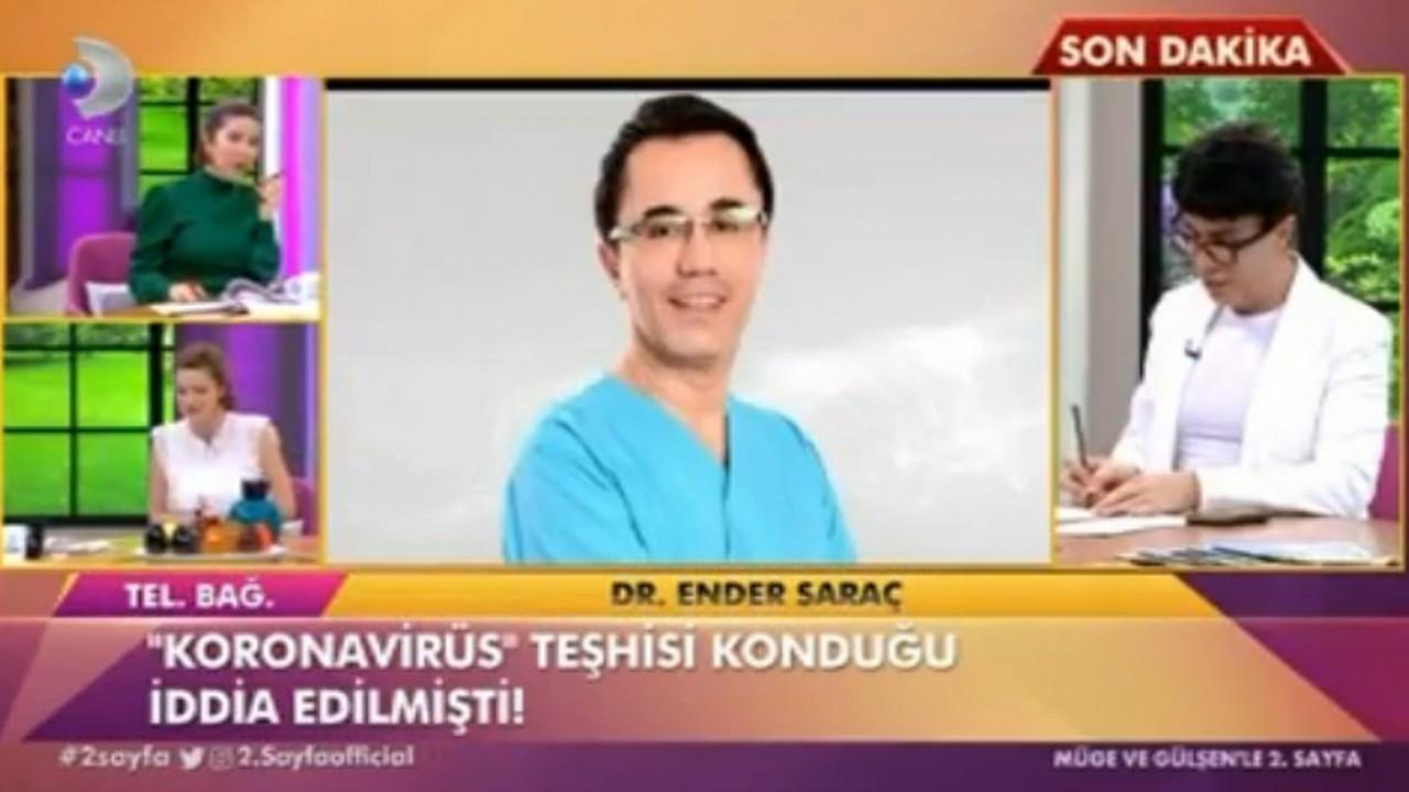 Dr. Ender Saraç canlı yayında açıklama yaptı!